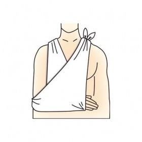 Echarpe triangulaire dite...