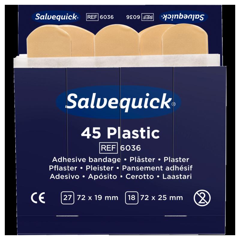 Boutique de 1er Secours - Recharge 45 pansements plastiques Cederroth 6036