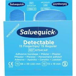 Boutique de 1er Secours - Recharge 15 pansements bleus détectables Cederroth 6754CAP