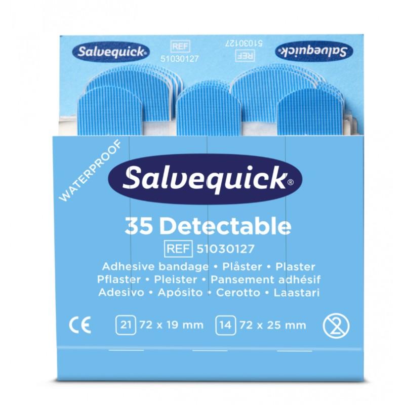 Boutique de 1er Secours - Recharge 35 pansements bleus détectables Cederroth 51030127